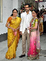 Hema Malini Esha Deol with fiance Bharat Takhtani at her engagement ceremony at her house in Mumbai Photo