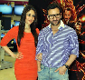 Kareena Kapoor with Saif Ali Khan at film AGENT VINOD promotions at Reliance Digital Store in Mumbai Photo