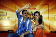 Sonakshi Sinha with Akshay Kumar at film ROWDY RATHORE first look Photo