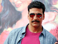 Akshay Kumar at his film ROWDY RATHORE promotions in Lokhandwala Complex Pic