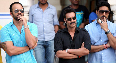 Rohit Shetty Ajay Devgn Abhishek Bachchan Bol Bachchan Movie On Sets Photo