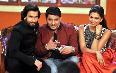 Ranveer and Deepika Padukone with Kapil Sharma promoting RAM LEELA on Comedy Nights With Kapils