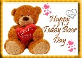 Happy Teddy Bear Message Greeting Card