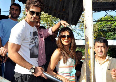 Shahid Kapoor Priyanka Chopra waiting for train to catch at Marine Lines station in Mumbai Photo