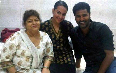 Sonakshi Sinha with Choreographer Saroj Khan and Prabhu Deva for Rowdy Rathore Movie Photo