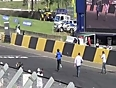 man jumps over sports car video videos