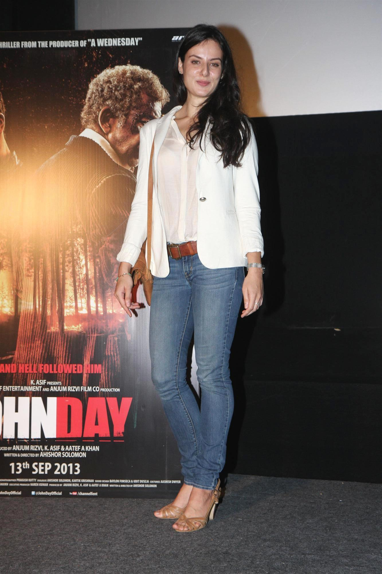german actress elena kazan at film john day press meet in mumbai  german actress elena kazan at film john day press meet in mumbai 1