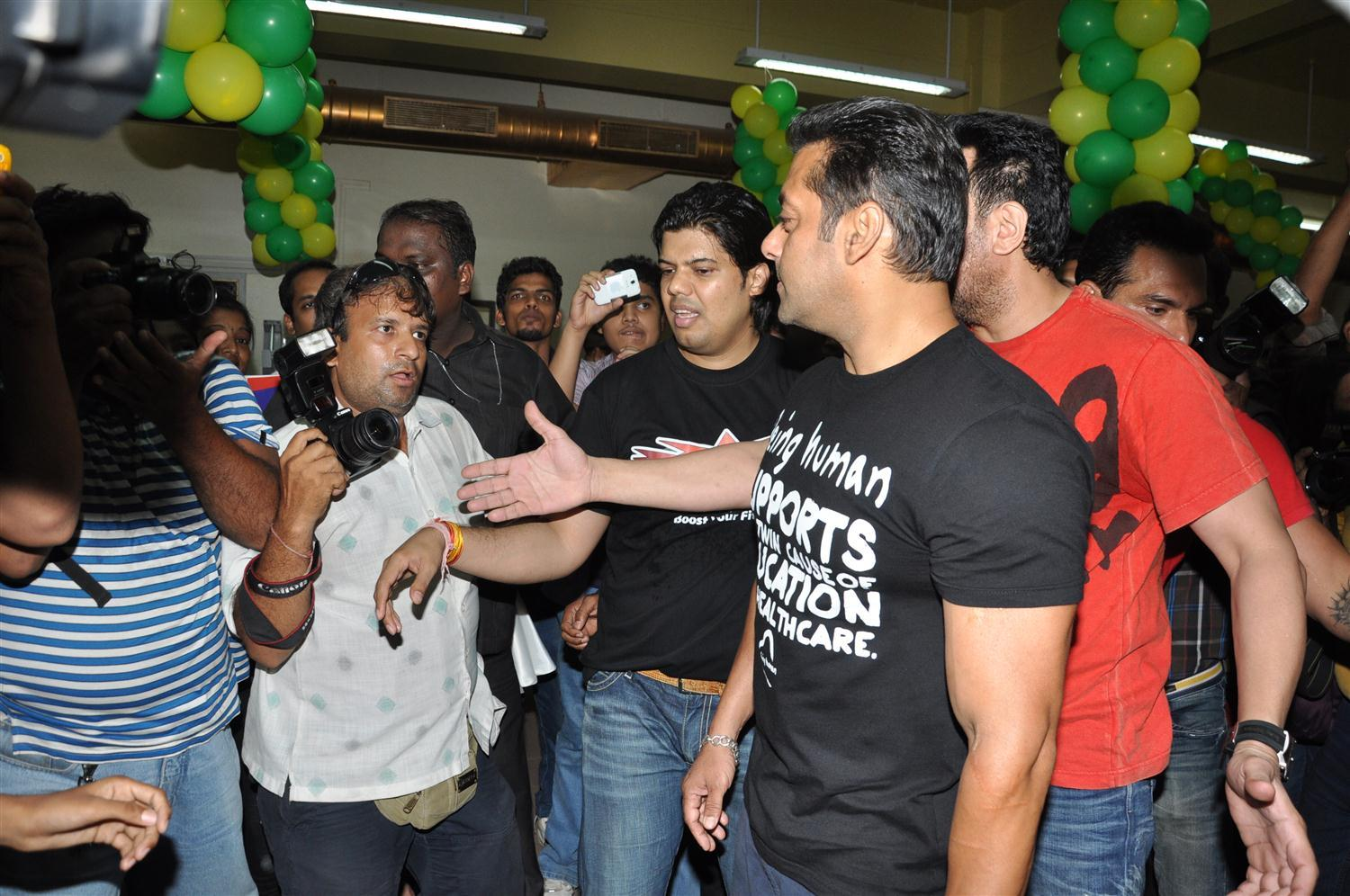 Superstar Salman Khan at the launch of fitness center NITRO Pure