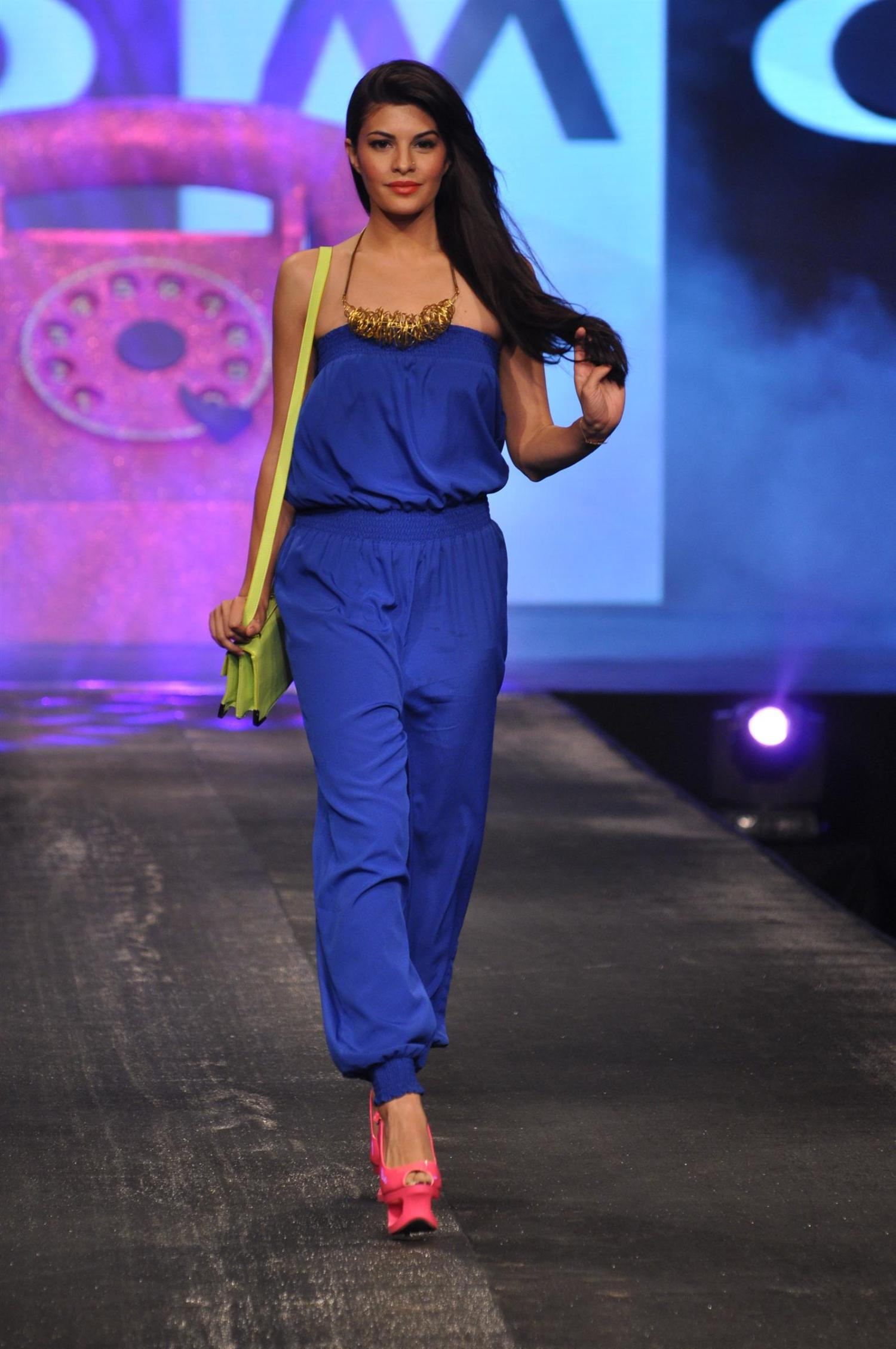 Jacqueline Fernandez walking the ramp at the ALLURE FASHION SHOW in ...