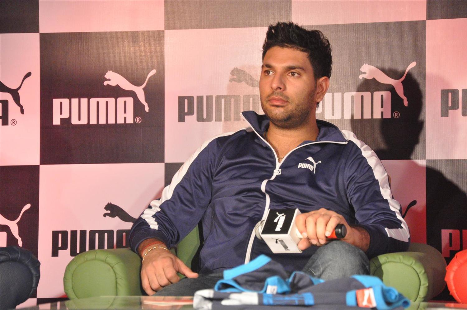 Indian cricket team player yuvraj singh at puma event announcing him