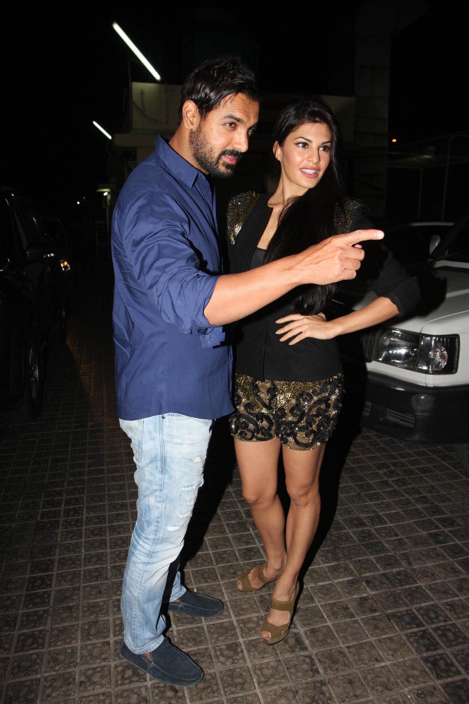 John Abraham with Jacqueline Fernandez at the special ...