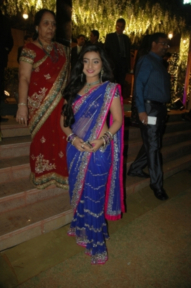 TV actress Nehaa Marda at wedding of daughter of business ...