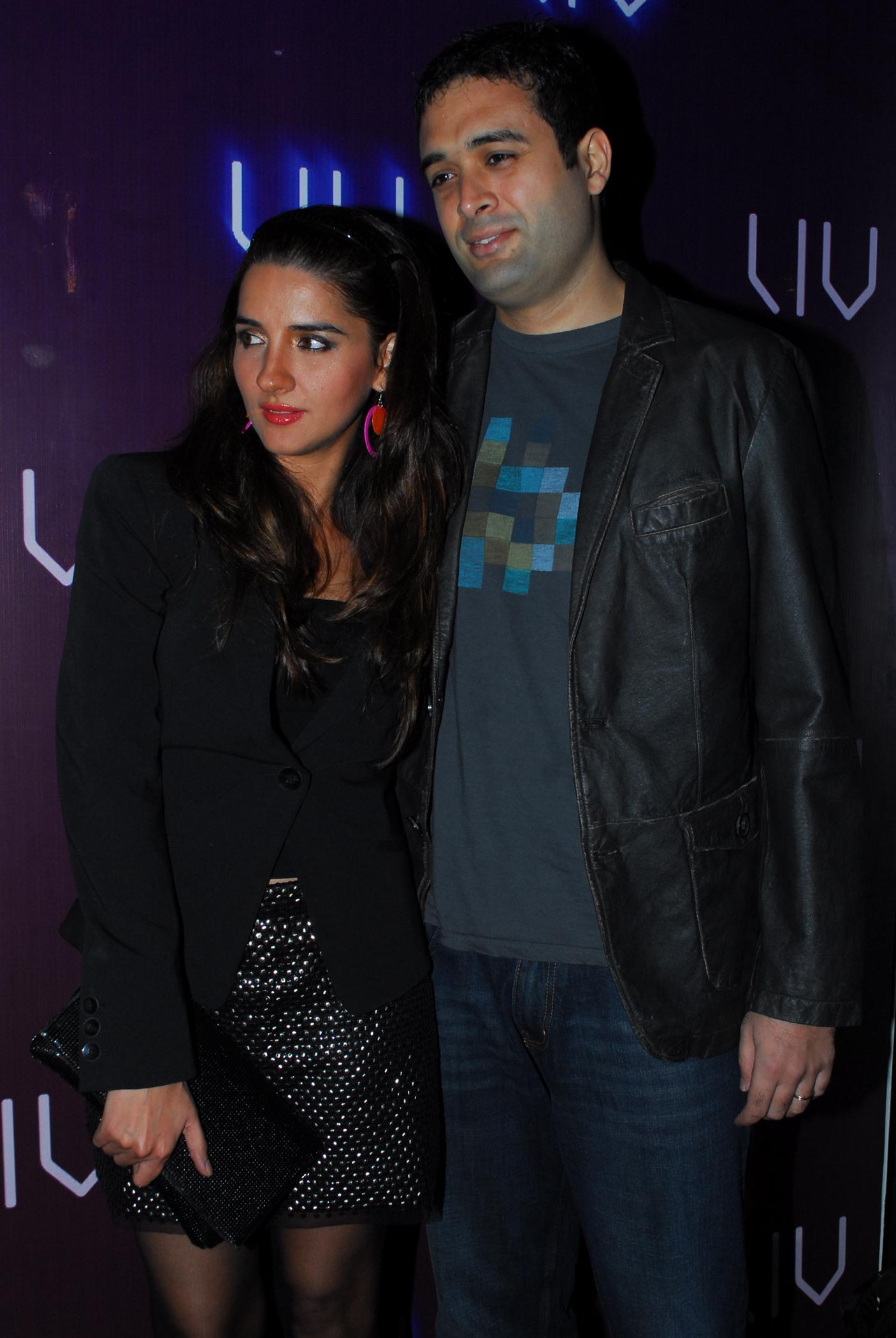 Shruti Seth with husband Danish Aslam at the launch of LIV One ...