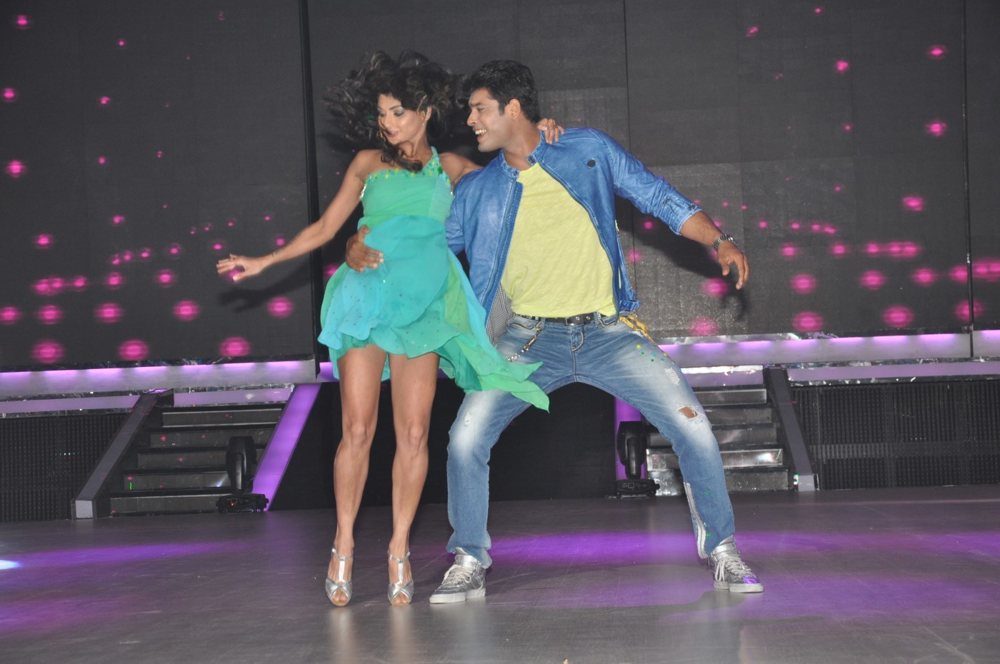 Tv actor siddharth shukla dancing at the first look launch of jhalak