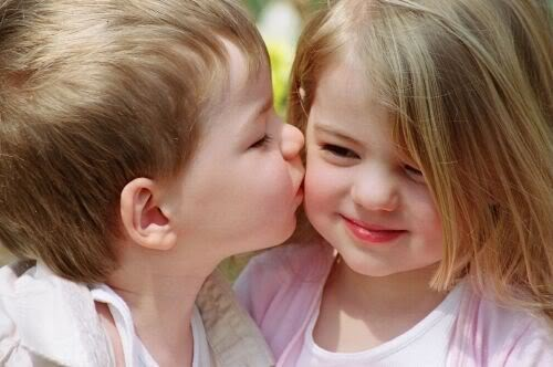 Kiss couple and baby babies cute kids children kids cute baby girl