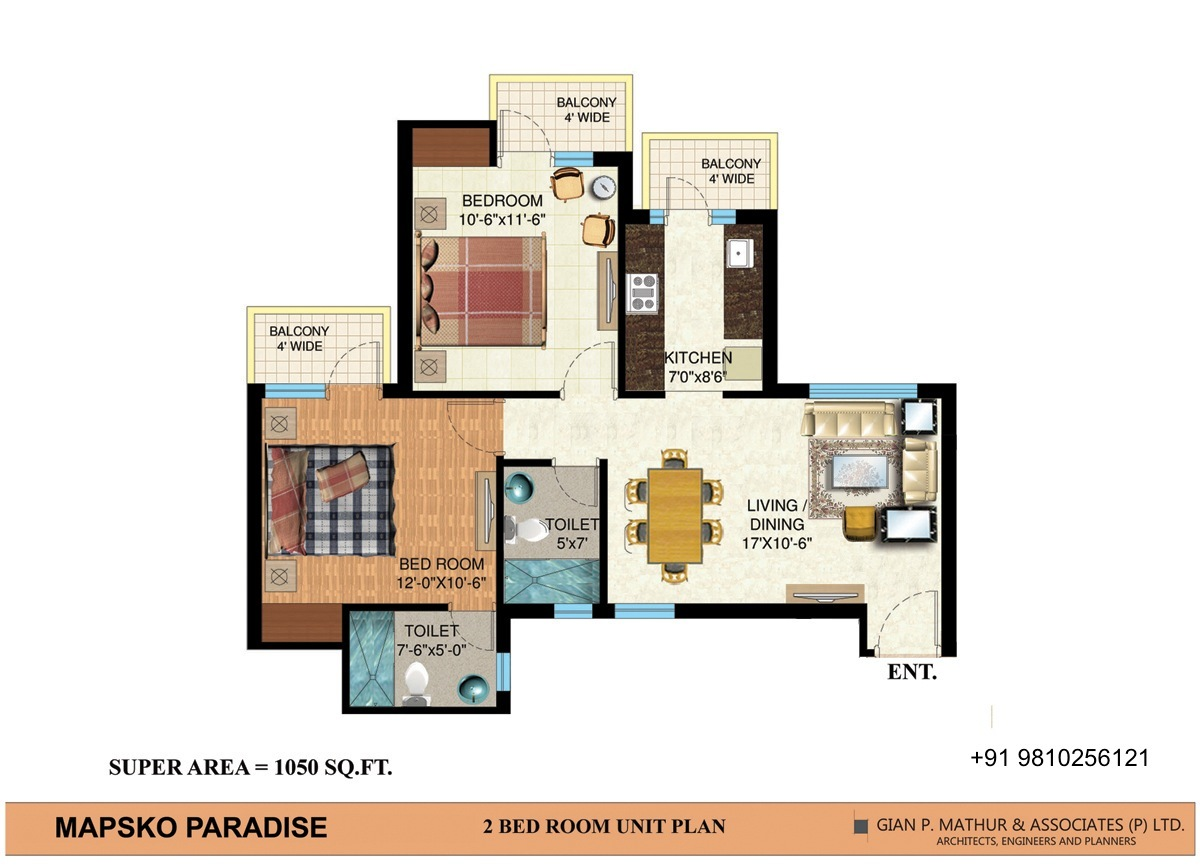 2bhk Floor Plan Resale Mapsko Paradise On Rediff Pages