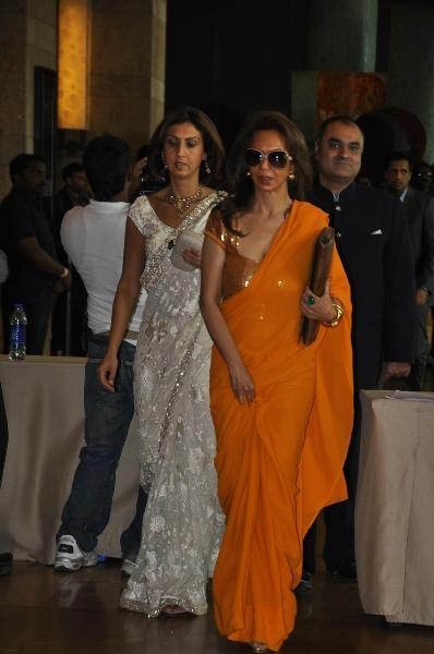 Parmeshwar Godrej With Daughter Tanya At Ritesh Deshmukh Genelia Wedding Ceremony In Mumbai