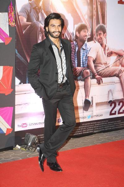 Ranveer Singh at film KAI PO CHE premiere at Cinemax in Mumbai  4