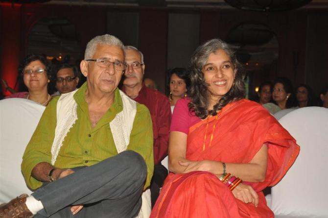 Veteran actor Naseeruddin Shah with wife Ratna Pathak Shah at Anhad NGO event in Mumbai  1
