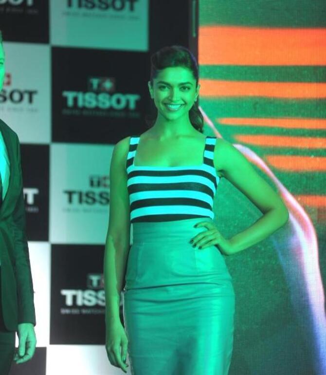 Brand Ambassador Deepika Padukone posing at the launch of ...