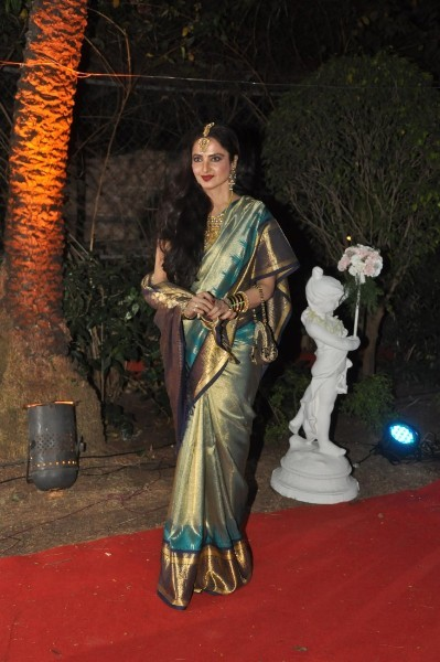 Rekha at the wedding reception of Ahana Deol in Mumbai  1