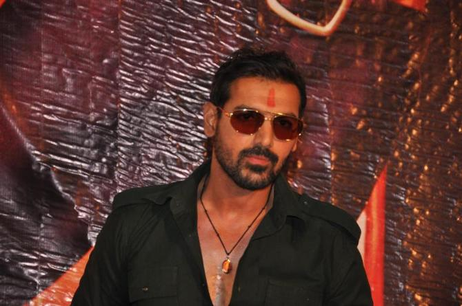 John Abraham At Film Shootout At Wadala First Look Launch