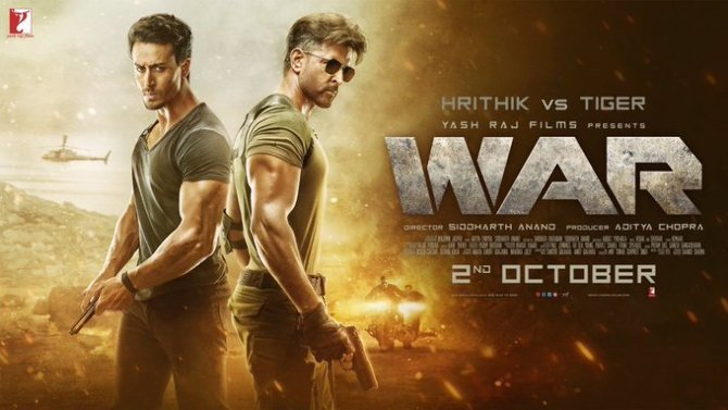 Hrithik Roshan   Tiger Shroff Starrer WAR Movie Poster