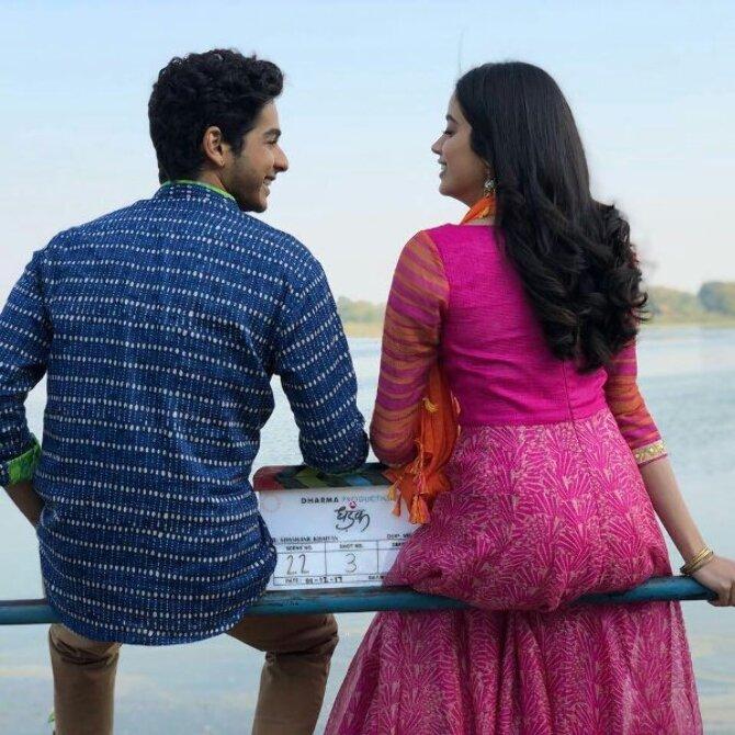Janhvi Kapoor and Ishaan Khatter Dhadak Movie Opening 2