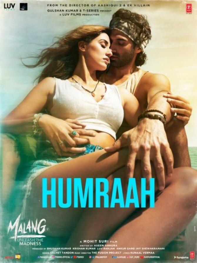Disha Patani   Adutya Roy Kapur starrer Malang movie Poster