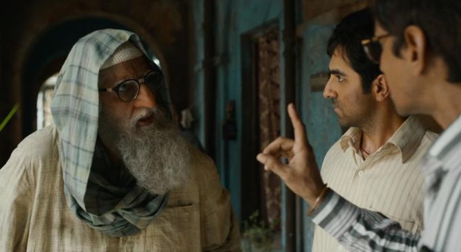 Amitabh Bachchan  Vijay Raaz and Ayushmann Khurran starrer Gulabo Sitabo Hindi Movie Photos  48