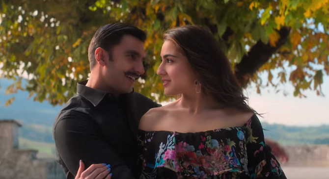 SIMMBA Movie Song Tere Bin starring Ranveer Singh   Sara Ali Khan  17