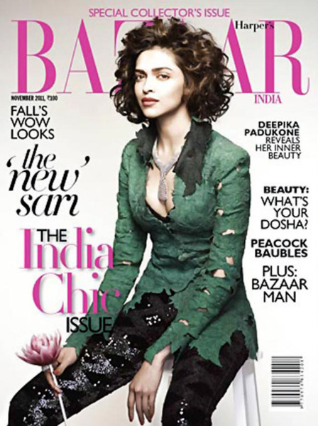 Deepika Padukone on Harper Bazaar Nov 2011 Pic