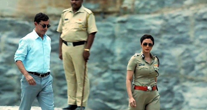 Tabu Rajat Kapoor Drishyam Movie Pic : tabu photos on Rediff Pages