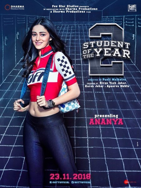 Ananya Student of the Year 2 Movie Poster First Look
