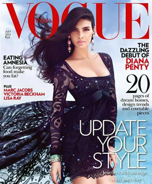 Diana Penty Vogue India July 2012 Magazine Cover Page Photo