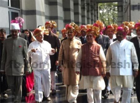 Vilasrao Deshmukh at Genelia DSouza and Ritesh Deshmukh Wedding Photo