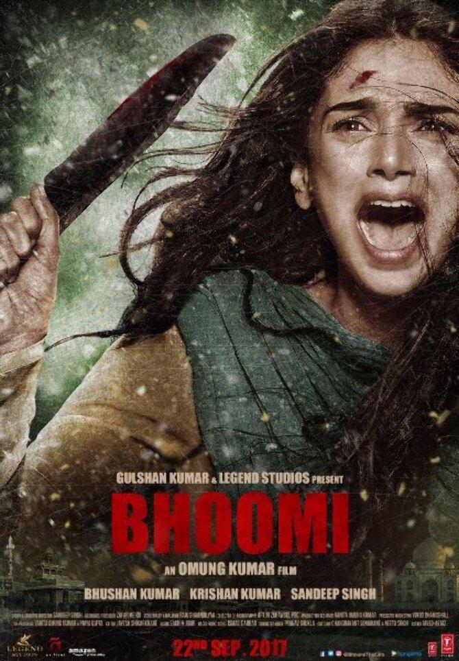 Aditi Rao Hydari Bhoomi Movie Poster