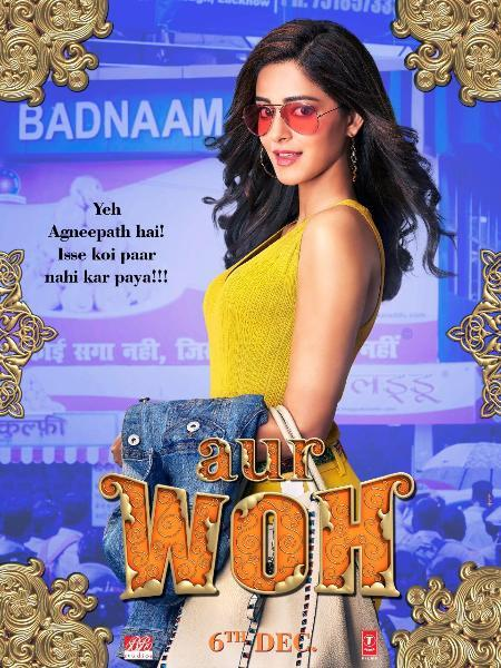 Ananya Panday in the new character poster of  Pati Patni Aur Woh
