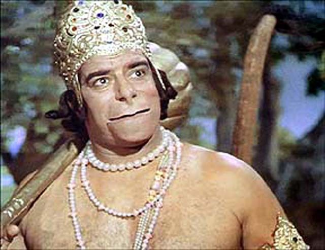 Dara Singh as Hanuman in Ramayan TV Series
