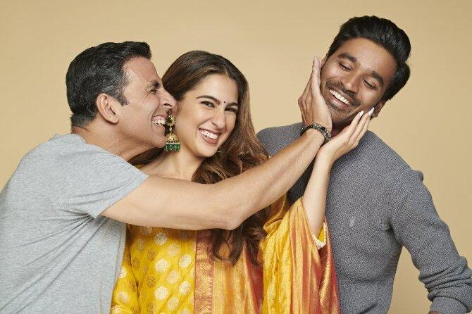 Akshay Kumar  Dhanush and Sara Ali Khan new film Atrangi Re 03