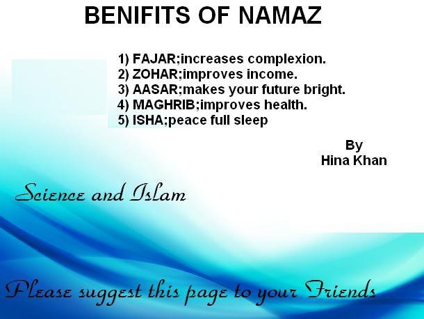 Benefits of Namaz