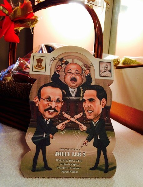 Jolly LLB 2 Caricature Poster