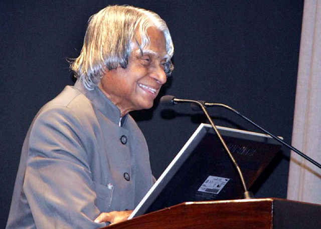 Dr.APJ Abdul Kalam in Seminar Speech Photo