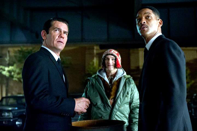 Will Smith Josh Brolin and Michael Stuhlbarg in Men in Black 3 Pic