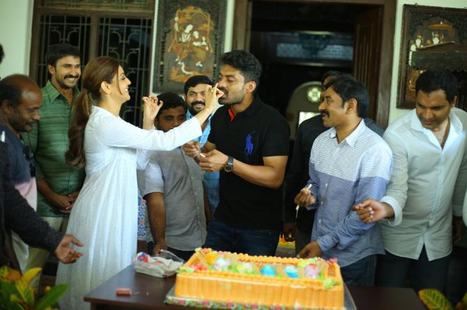 Nandamuri Kalyanram Birthday Celebrations on MLA Movie Sets  22