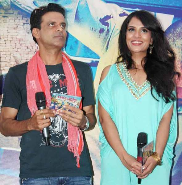 Manoj Bajpai and Richa Chadda GANGS OF WASSEYPUR Music Launch Photo