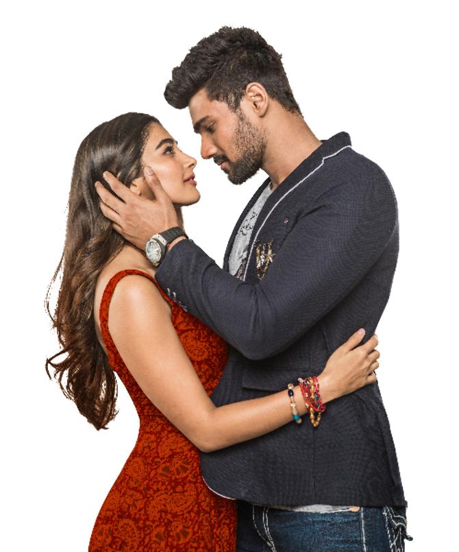 Pooja Hegde  Bellamkonda Sai Srinivas Sakshyam Movie Poster