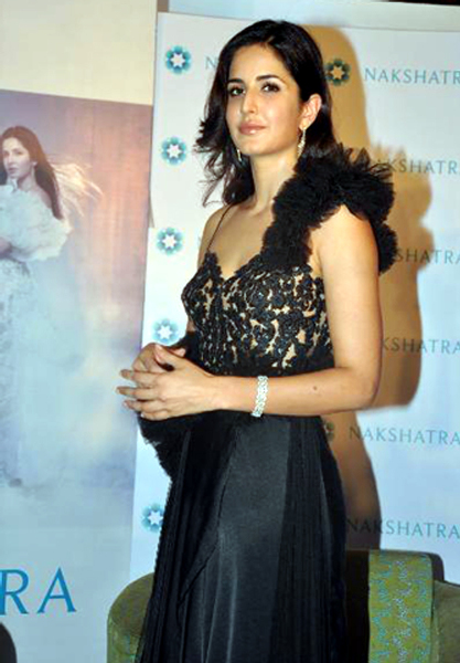 Katrina Kaif posing at the unveiling of the new logo brand campaign GLOW DIVINE for Nakshatra Diamonds in Mumbai Photo