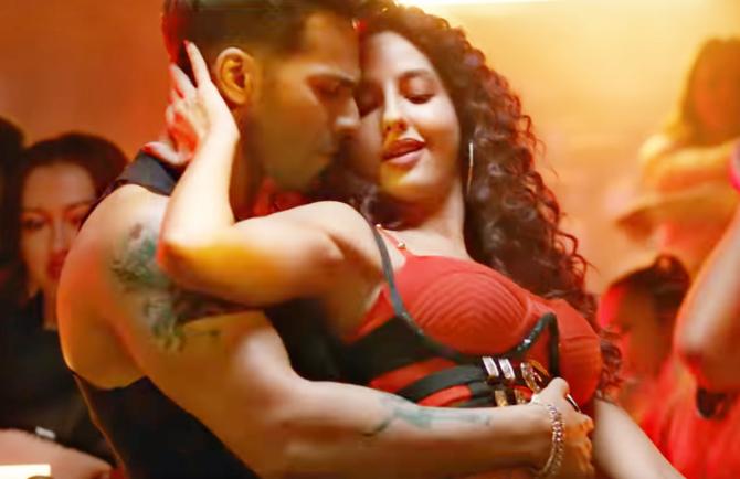 Nora Fatehi   Varun Dhawan starrer Street Dancer 3D Movie Song Garmi Pic  4