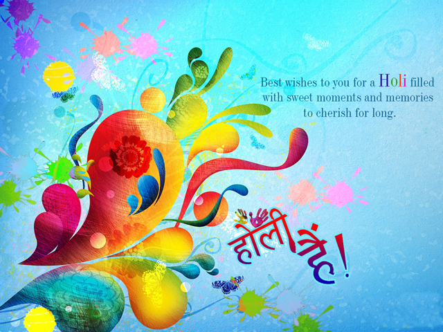 Happy Holi Greetings Card